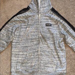 PINK jacket with hood!